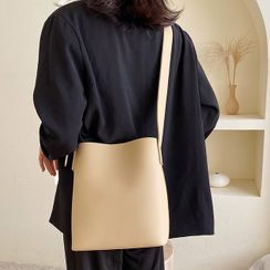 Velocia - Faux-Leather Bucket Bag