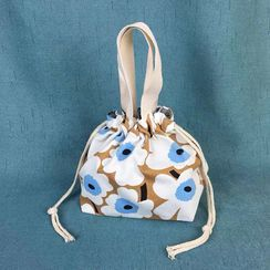 Libra - Printed Drawstring Canvas Handbag