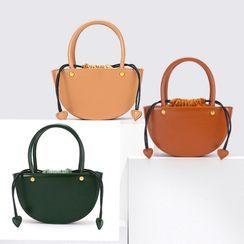 tablarosa - Drawstring Genuine Leather Handbag