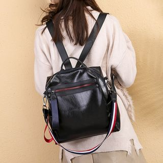 Golden Kelly - Faux Leather Backpack