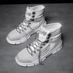 HANO - Canvas Platform High Top Sneakers