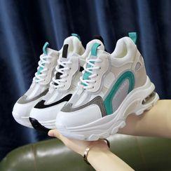 Sleeko - Platform Lace Up Sneakers
