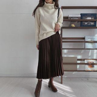 MERONGSHOP - Accordion Pleated Skirt