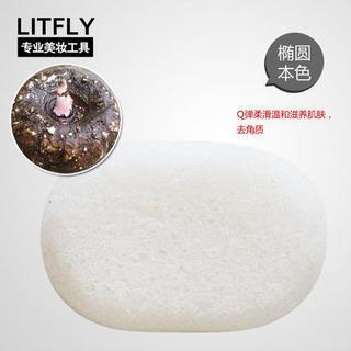 Litfly麗塔芙 - 蒟蒻魔芋洗顏棉 (橢圓) (本色)