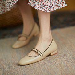 Gillaro - Genuine Leather Mary Jane Flats