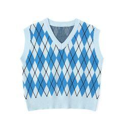 JIN STUDIOS - Argyle Knit Vest