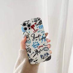 Galeon - Graffiti Print Mobile Case - iPhone 12 Pro Max / 12 Pro / 12 / 12 mini / 11 Pro Max / 11 Pro / 11 / SE / XS Max / XS / XR / X / SE 2 / 8 / 8 Plus / 7 / 7 Plus