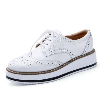 NOVO - 厚底布洛克牛津鞋
