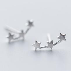 A'ROCH - 925純銀星星飾釘耳環