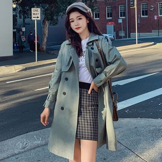 OTTI - Long Double-Breasted Trench Coat