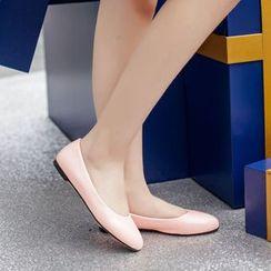 Megan - 漆皮轻便平跟鞋