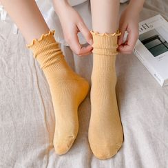 Mimiyu - Set of 5: Lettuce Edge Socks