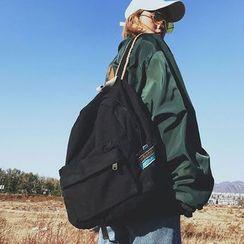 KAMELIS - 纯色帆布背包