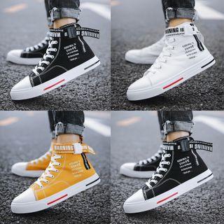 Viffara - Lettering High-Top Sneakers