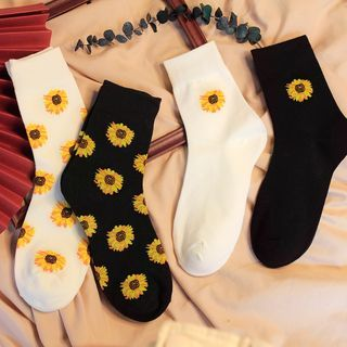 Cottonet - Sunflower Print Socks