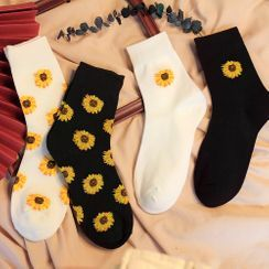 Cottonet - Sunflower Print Socks