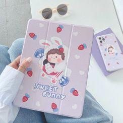 Vachie - 小兔卡通印花iPad保护套