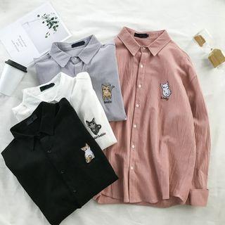 Acrius - 小猫刺绣衬衫