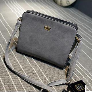 Rosanna Bags - Faux-Leather Crown Accent Cross Bag