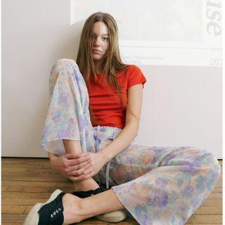 FROMBEGINNING - [BOTANIC HOUSE] Floral Chiffon Pants