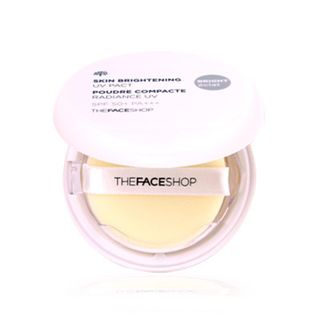 THE FACE SHOP - Skin Brightening UV Pact SPF50+ PA+++ (#V201 Apricot Beige)