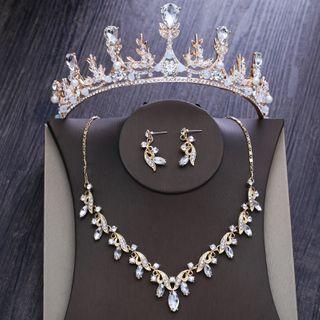 la Himi - 婚礼仿水晶皇冠 / 项链 / 耳坠