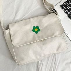 OUCHA(ウーチャ) - Flower Print Canvas Crossbody Bag