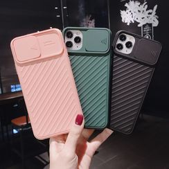 BREEZUS - Plain Textured Phone Case with Lens Cover - iPhone 11 Pro Max / 11 Pro / 11 / XS Max / XS / XR / X / 8 / 8 Plus / 7 / 7 Plus / 6s / 6s Plus