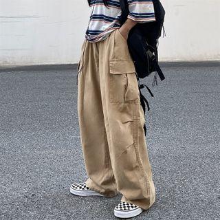 2DAWGS - Elastic-Waist Wide-Leg Cargo Pants
