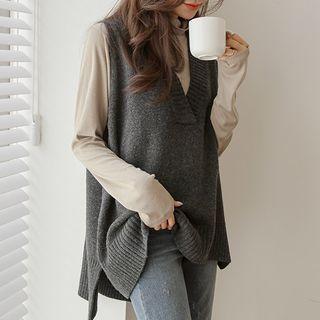 JUSTONE - Dip-Back Oversized Knit Vest