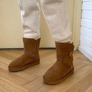 DANI LOVE - Faux-Fur Lined Faux-Suede Snow Boots