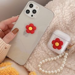 BlingStar - Flower Transparent Phone Case - iPhone 12 Pro Max / 12 Pro / 12 / 12 mini / 11 Pro Max / 11 Pro / 11 / SE / XS Max / XS / XR / X / SE 2 / 8 / 8 Plus / 7 / 7 Plus / AirPods / Pro Earphone Case Cover
