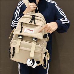 Novila - Set: Waterproof Buckled Backpack + Bag Charm