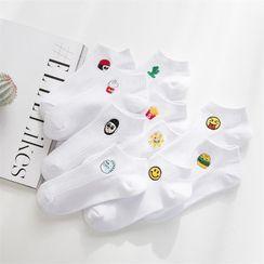 TAHLIA - 刺绣船袜 (多款设计)