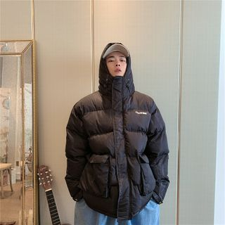 Algodon - Hooded Padded Zip Jacket