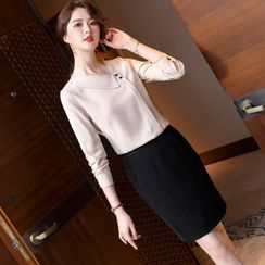 Skyheart - Long-Sleeve Blouse / Dress Pants / Pencil Skirt