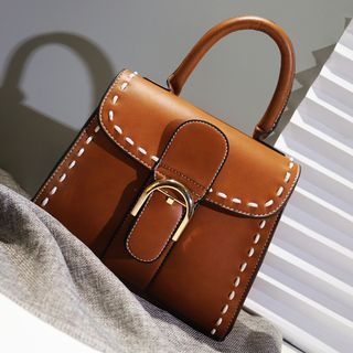 BeiBaoBao - Faux-Leather Buckled Satchel