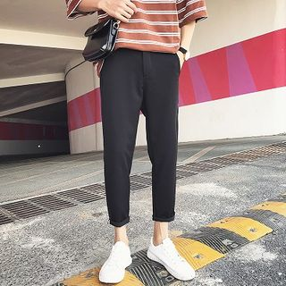 FOEV - Cropped Straight Leg Pants