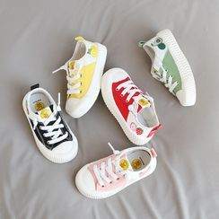 Doradas - Kids Lace-up Printed Panel Canvas Sneakers