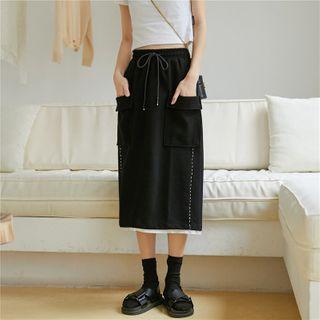 Sonne - Mock Two-Piece Cargo Midi Skirt
