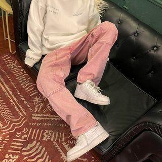 JUN.LEE - Wide-Leg Cargo Jeans
