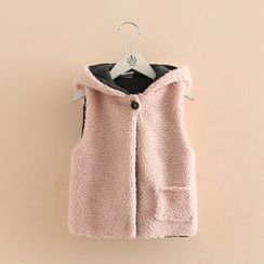 Seashells Kids - Kids Pompom Rabbit Ear Hooded Vest