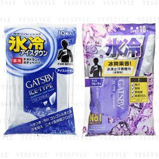 Mandom 漫丹 - Gatsby 冰冻止汗香体巾 10 片 - 2 款