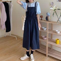 Slowmak - 气球袖T裇 / 背带连衣中裙