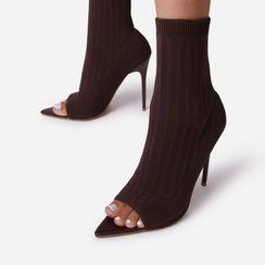 Chryse - 細高跟露趾短靴