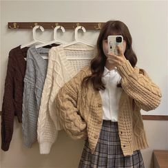 Ganache - Cable Knit Cardigan