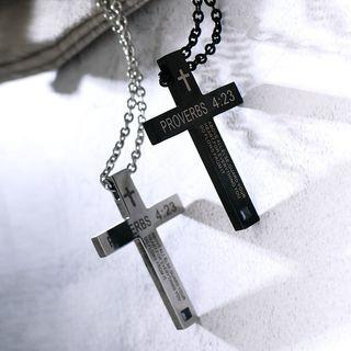 Tenri - Stainless Steel Cross Pendant Necklace