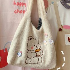 BANGGIRL - Fluffy Teddy Bear Tote Bag