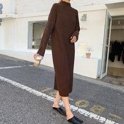 Ashlee - 塑身罗纹针织毛衣中裙