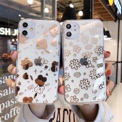 Galeon - Flower Print Phone Case - iPhone 6 / 6s / 6 Plus / 6s Plus / 7 / 7 Plus / 8 / 8 Plus / X / XR / XS / XS MAX / 11 / 11 Pro / 11 Pro Max